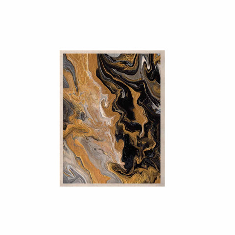 "Catherine Holcombe ""Gold Vein Marble"" Black Gold Abstract Geological Painting KESS Naturals Canvas (Frame not Included)"