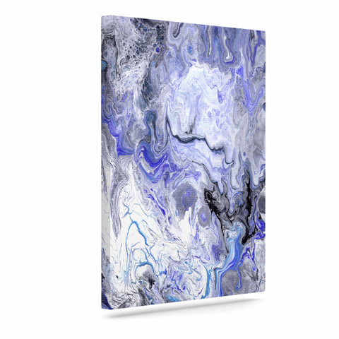 "Catherine Holcombe ""Purple Marble"" Purple Black Abstract Geological Painting Art Canvas"