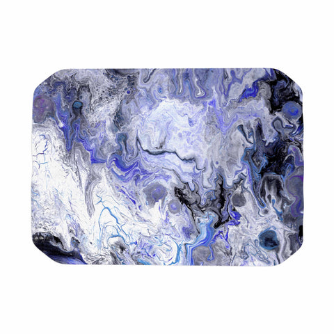 "Catherine Holcombe ""Purple Marble"" Purple Black Abstract Geological Painting Place Mat"