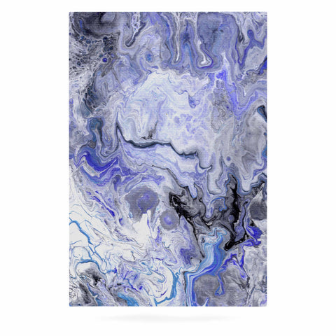 "Catherine Holcombe ""Purple Marble"" Purple Black Abstract Geological Painting Luxe Rectangle Panel"