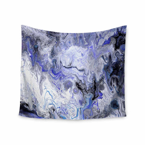"Catherine Holcombe ""Purple Marble"" Purple Black Abstract Geological Painting Wall Tapestry"