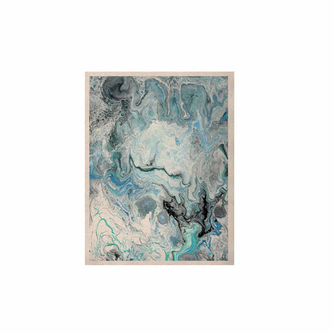 "Catherine Holcombe ""Wave Crash Marble"" Blue Teal Abstract Coastal Painting KESS Naturals Canvas (Frame not Included)"