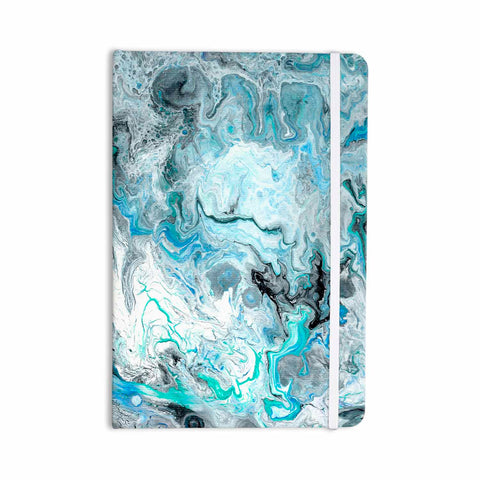 "Catherine Holcombe ""Wave Crash Marble"" Blue Teal Abstract Coastal Painting Everything Notebook"