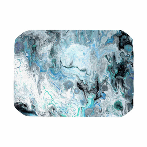 "Catherine Holcombe ""Wave Crash Marble"" Blue Teal Abstract Coastal Painting Place Mat"