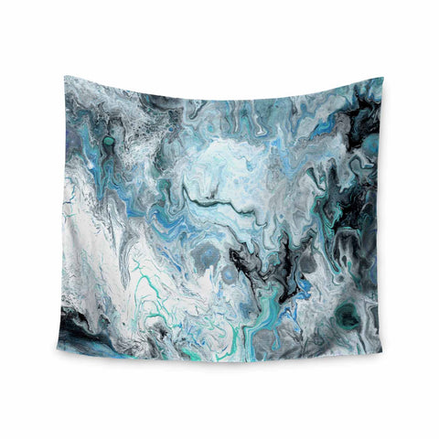 "Catherine Holcombe ""Wave Crash Marble"" Blue Teal Abstract Coastal Painting Wall Tapestry"