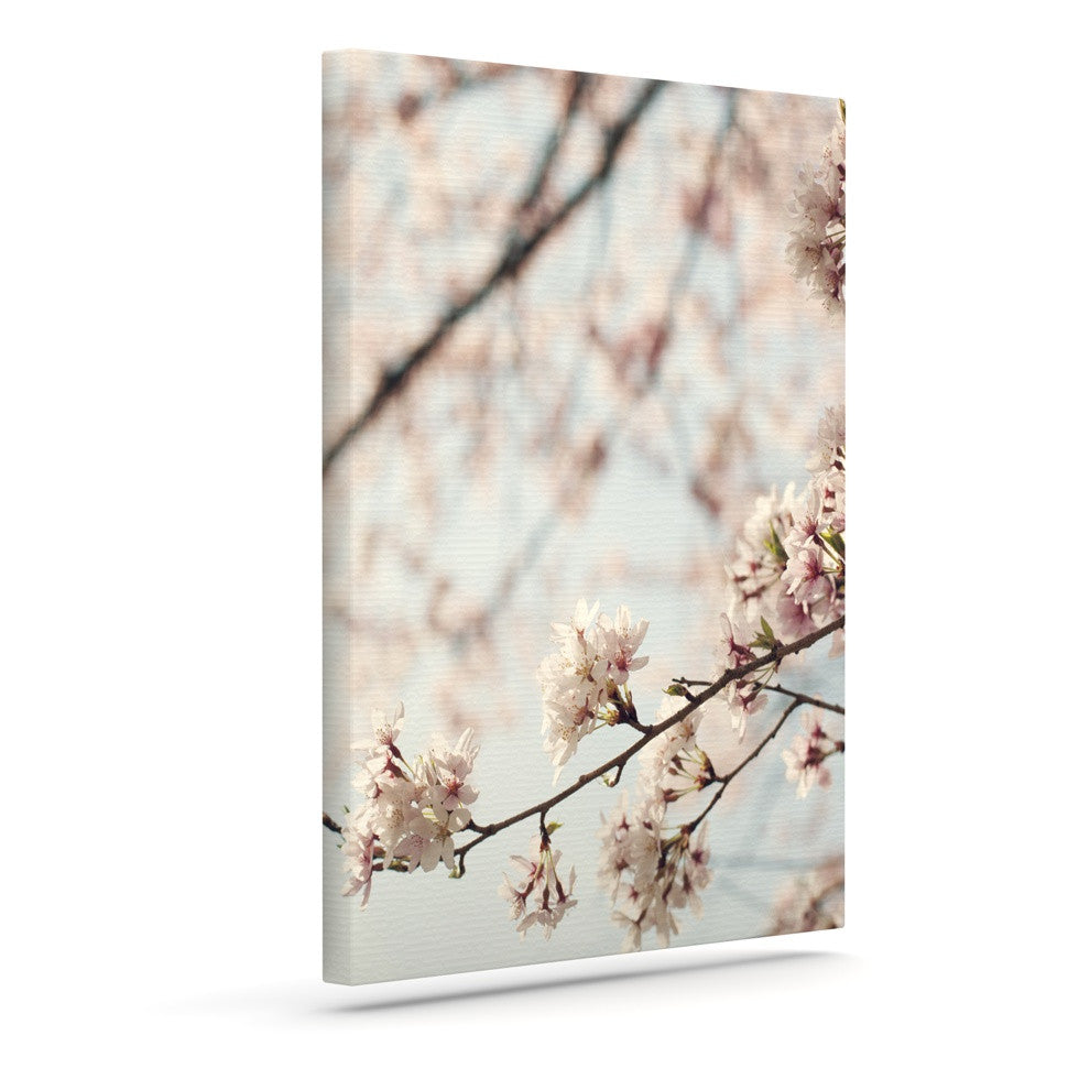 "Catherine McDonald ""Japanese Cherry Blossom"" Outdoor Canvas Wall Art - KESS InHouse  - 1"