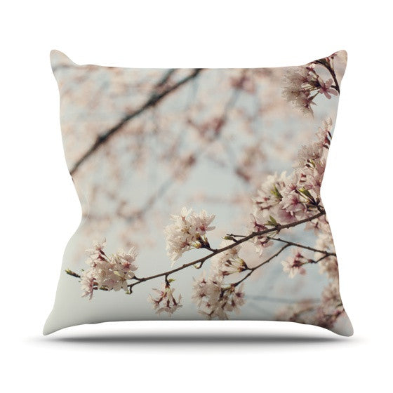 "Catherine McDonald ""Japanese Cherry Blossom"" Outdoor Throw Pillow - KESS InHouse  - 1"