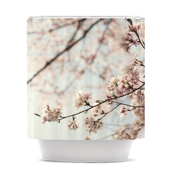 "Catherine McDonald ""Japanese Cherry Blossom"" Shower Curtain - KESS InHouse"