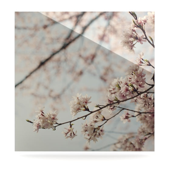 "Catherine McDonald ""Japanese Cherry Blossom"" Luxe Square Panel - KESS InHouse  - 1"