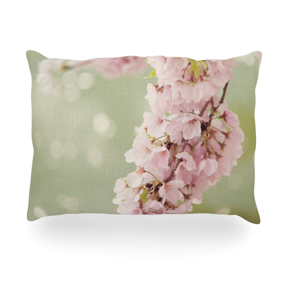 "Catherine McDonald ""Cherry Blossom"" Oblong Pillow - KESS InHouse"