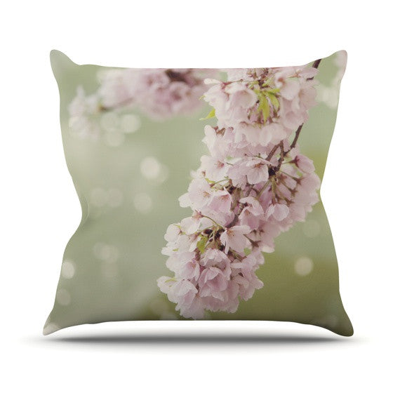 "Catherine McDonald ""Cherry Blossom"" Outdoor Throw Pillow - KESS InHouse  - 1"