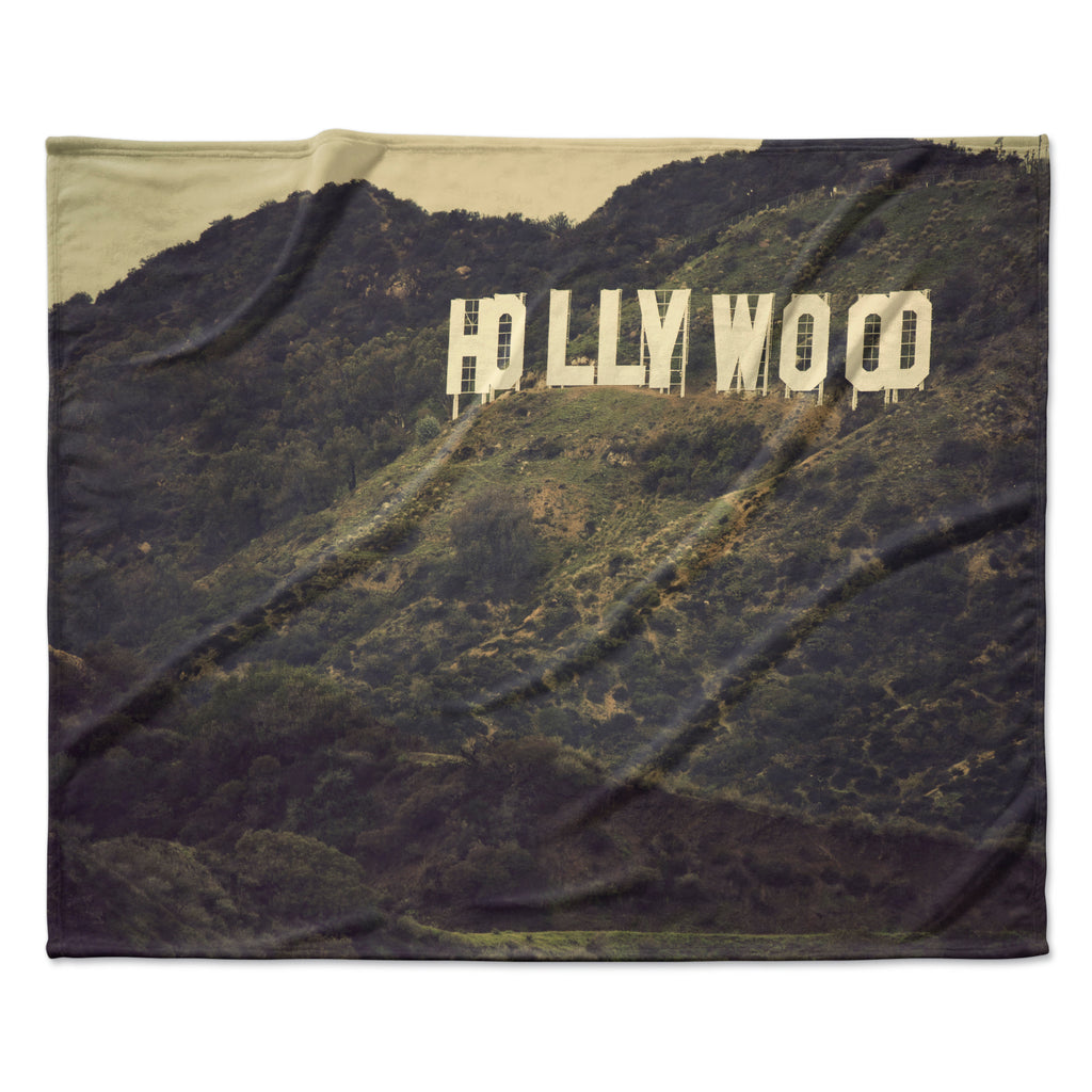 "Catherine McDonald ""Hollywood"" Fleece Throw Blanket"