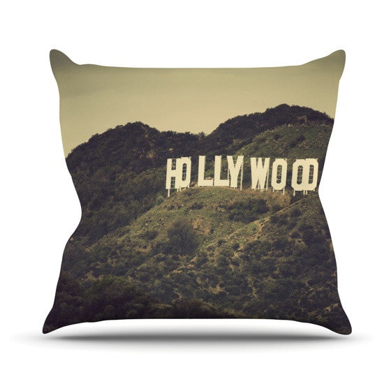 "Catherine McDonald ""Hollywood"" Outdoor Throw Pillow - KESS InHouse  - 1"