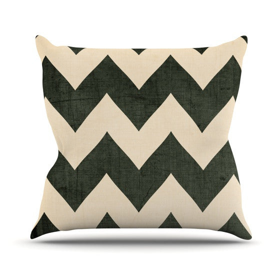 "Catherine McDonald ""Vintage Vinyl"" Outdoor Throw Pillow - KESS InHouse  - 1"