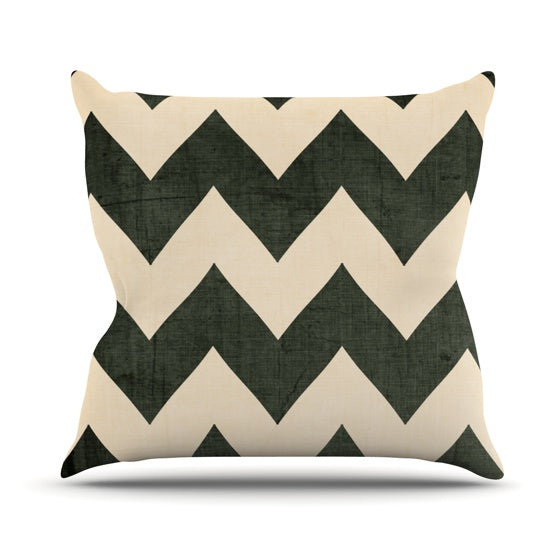 "Catherine McDonald ""Vintage Vinyl"" Throw Pillow - KESS InHouse  - 1"