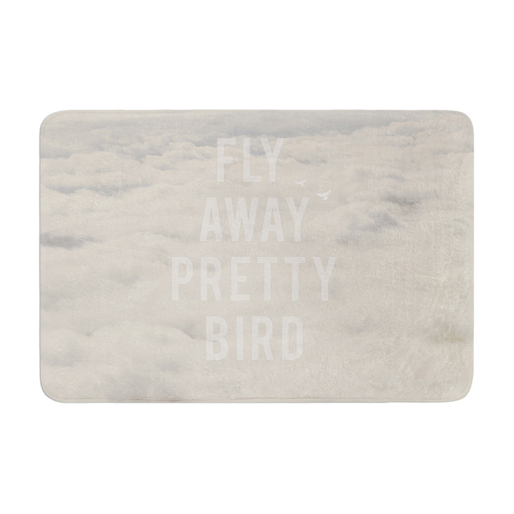 "Catherine McDonald ""Fly Away Pretty Bird"" Memory Foam Bath Mat - KESS InHouse"