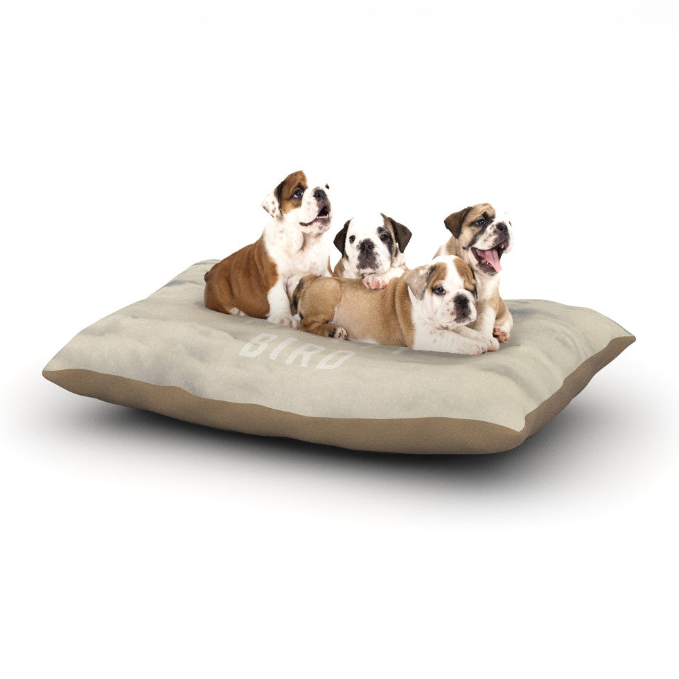 "Catherine McDonald ""Fly Away Pretty Bird"" Dog Bed - KESS InHouse  - 1"