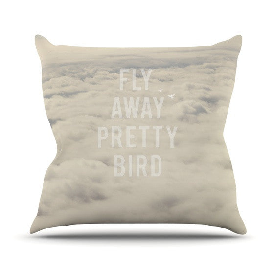 "Catherine McDonald ""Fly Away Pretty Bird"" Outdoor Throw Pillow - KESS InHouse  - 1"