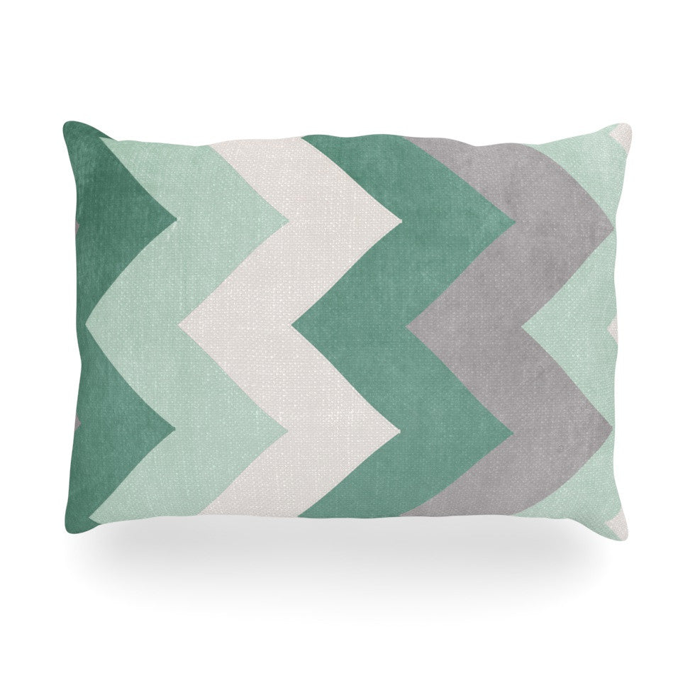 "Catherine McDonald ""Winter Green"" Oblong Pillow - KESS InHouse"
