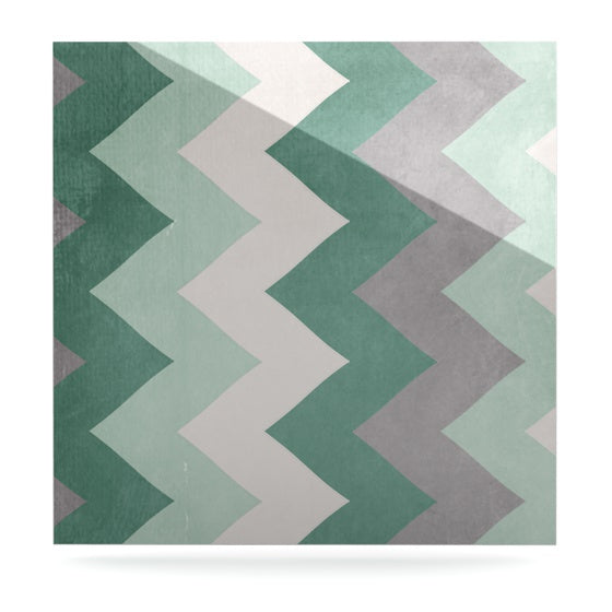"Catherine McDonald ""Winter Green"" Luxe Square Panel - KESS InHouse  - 1"