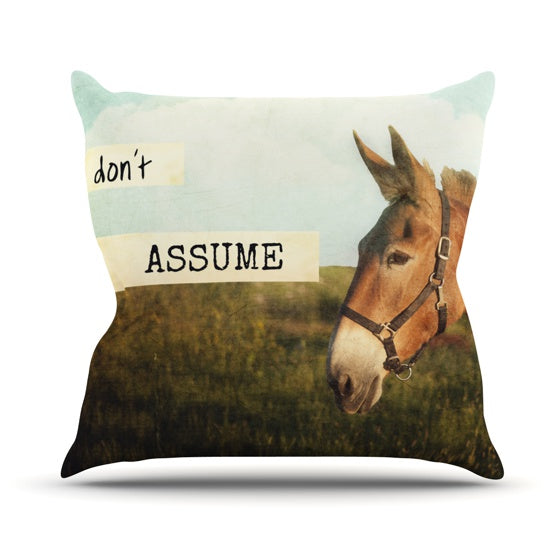 "Catherine McDonald ""Don't Assume"" Throw Pillow - KESS InHouse  - 1"