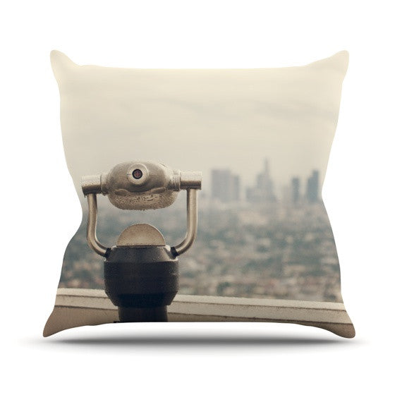 "Catherine McDonald ""The View LA"" Outdoor Throw Pillow - KESS InHouse  - 1"