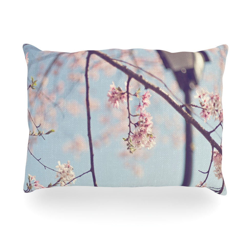 "Catherine McDonald ""Walk with Me"" Cherry Blossom Oblong Pillow - KESS InHouse"