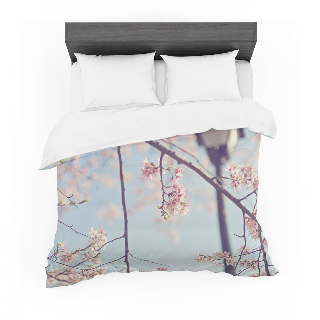 "Catherine McDonald ""Walk with Me"" Cherry Blossom Featherweight Duvet Cover"