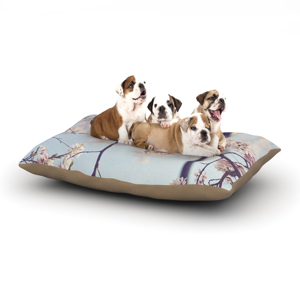 "Catherine McDonald ""Walk with Me"" Cherry Blossom Dog Bed - KESS InHouse  - 1"