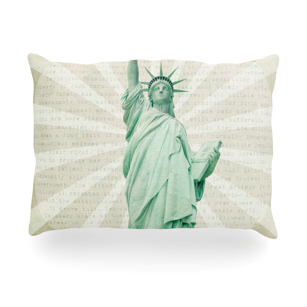 "Catherine McDonald ""The Lady"" Statue of Liberty Oblong Pillow - KESS InHouse"