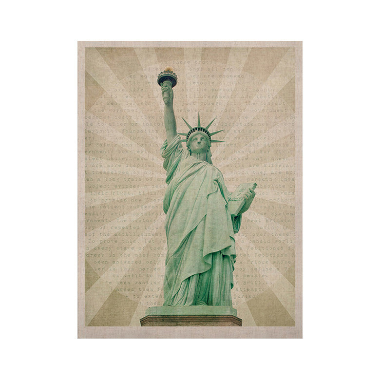 "Catherine McDonald ""The Lady"" Statue of Liberty KESS Naturals Canvas (Frame not Included) - KESS InHouse  - 1"