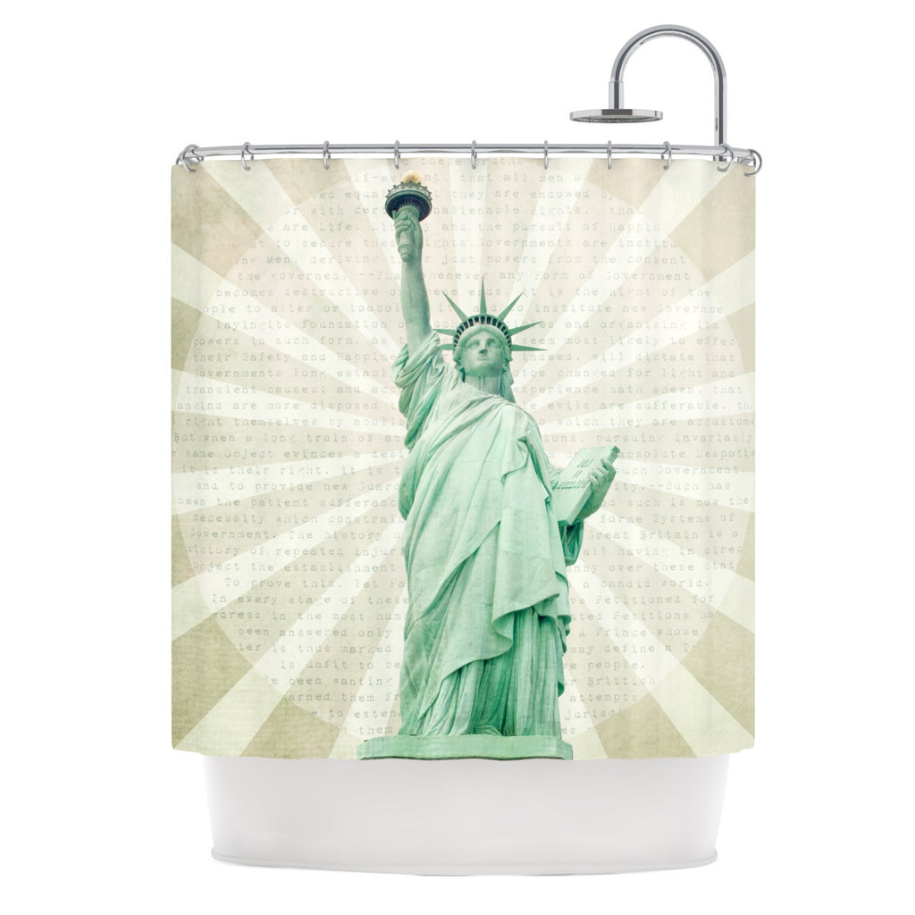 "Catherine McDonald ""The Lady"" Statue of Liberty Shower Curtain - KESS InHouse"