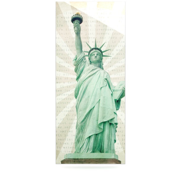 "Catherine McDonald ""The Lady"" Statue of Liberty Luxe Rectangle Panel - KESS InHouse  - 1"