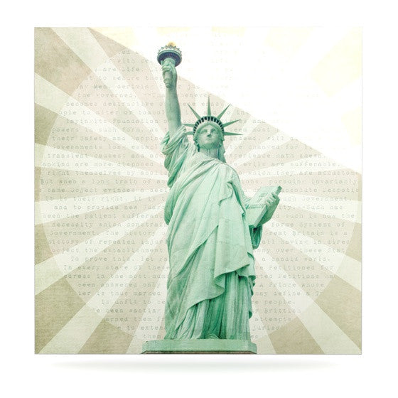 "Catherine McDonald ""The Lady"" Statue of Liberty Luxe Square Panel - KESS InHouse  - 1"