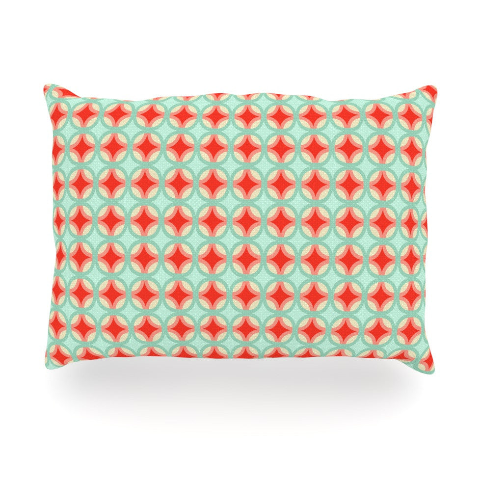 "Catherine McDonald ""Retro Circles"" Oblong Pillow - KESS InHouse"