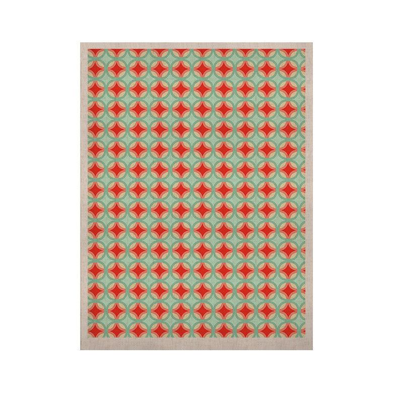"Catherine McDonald ""Retro Circles"" KESS Naturals Canvas (Frame not Included) - KESS InHouse"