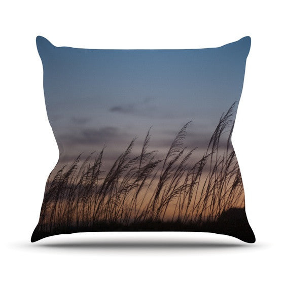 "Catherine McDonald ""Sunset on the Beach"" Outdoor Throw Pillow - KESS InHouse  - 1"