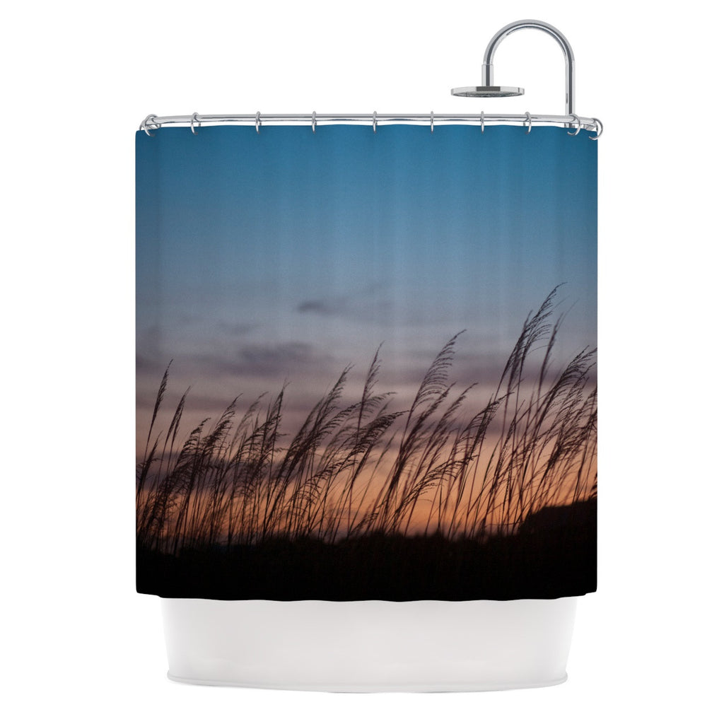 "Catherine McDonald ""Sunset on the Beach"" Shower Curtain - KESS InHouse"