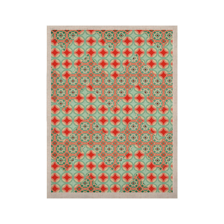 "Catherine McDonald ""Traveling Caravan"" Red Pattern KESS Naturals Canvas (Frame not Included) - KESS InHouse  - 1"