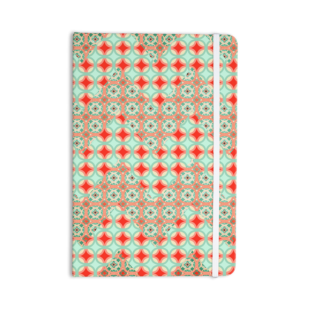 "Catherine McDonald ""Traveling Caravan"" Red Pattern Everything Notebook - KESS InHouse  - 1"