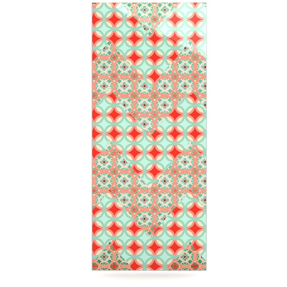 "Catherine McDonald ""Traveling Caravan"" Red Pattern Luxe Rectangle Panel - KESS InHouse  - 1"