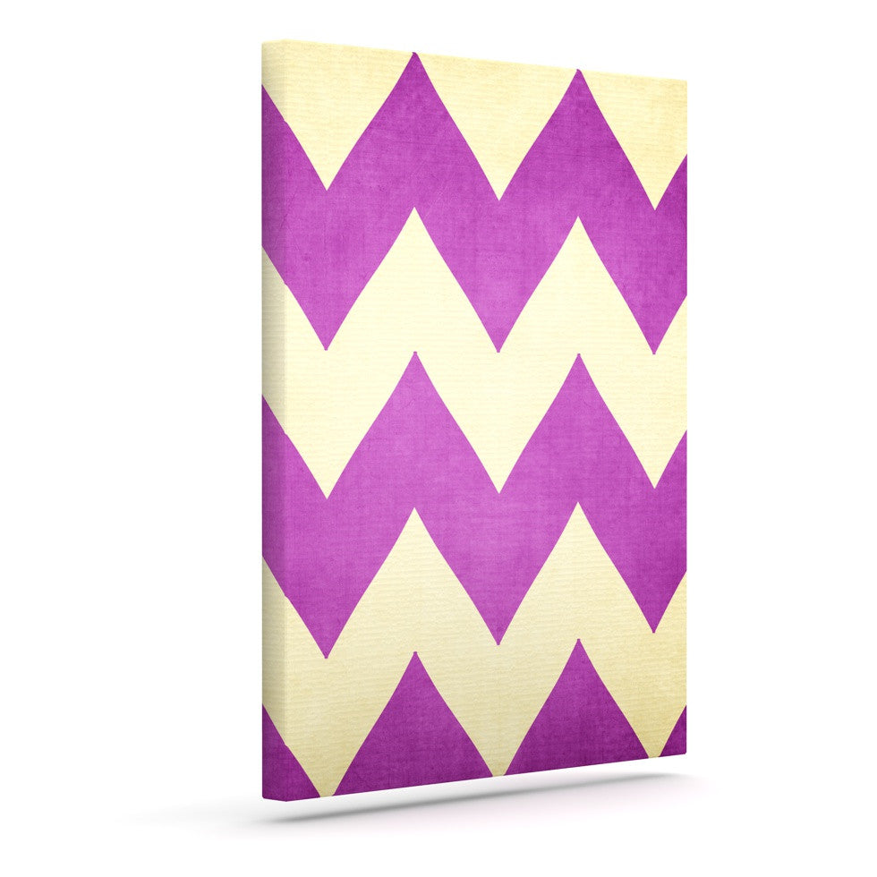 "Catherine McDonald ""Juicy"" Chevron Outdoor Canvas Wall Art - KESS InHouse  - 1"