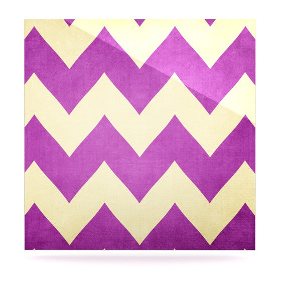 "Catherine McDonald ""Juicy"" Chevron Luxe Square Panel - KESS InHouse  - 1"