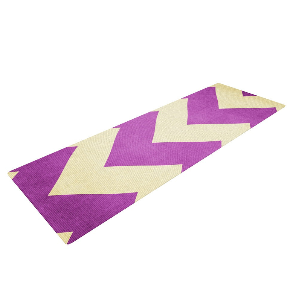 "Catherine McDonald ""Juicy"" Chevron Yoga Mat - KESS InHouse  - 1"