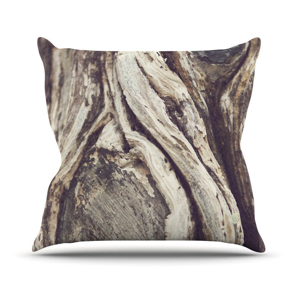 "Catherine McDonald ""Bark"" Outdoor Throw Pillow - KESS InHouse  - 1"