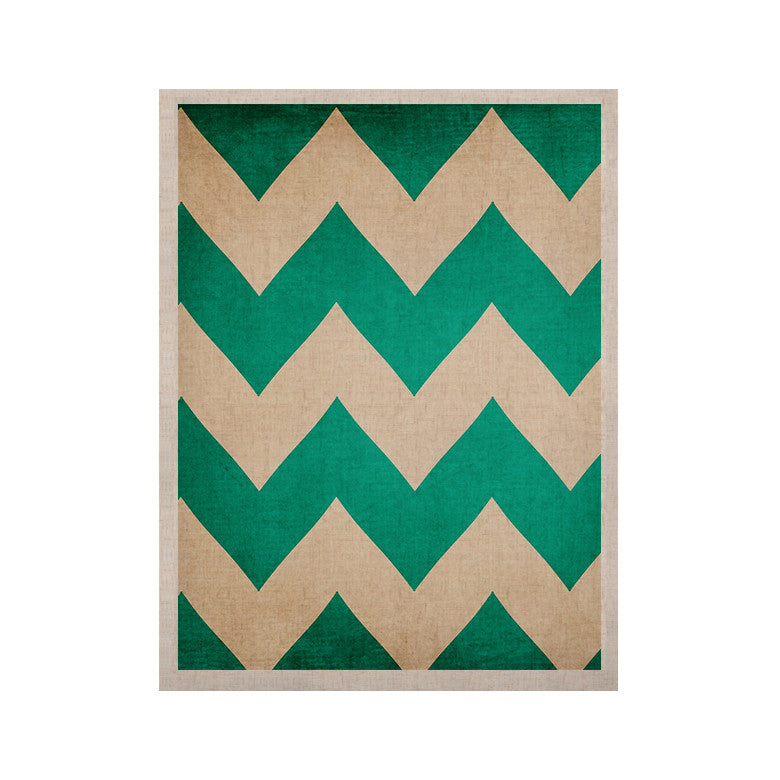 "Catherine McDonald ""2013"" Teal Chevron KESS Naturals Canvas (Frame not Included) - KESS InHouse  - 1"