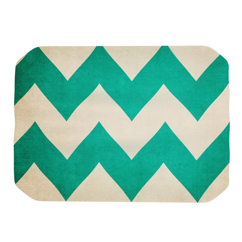 "Catherine McDonald ""2013"" Teal Chevron Place Mat - KESS InHouse"