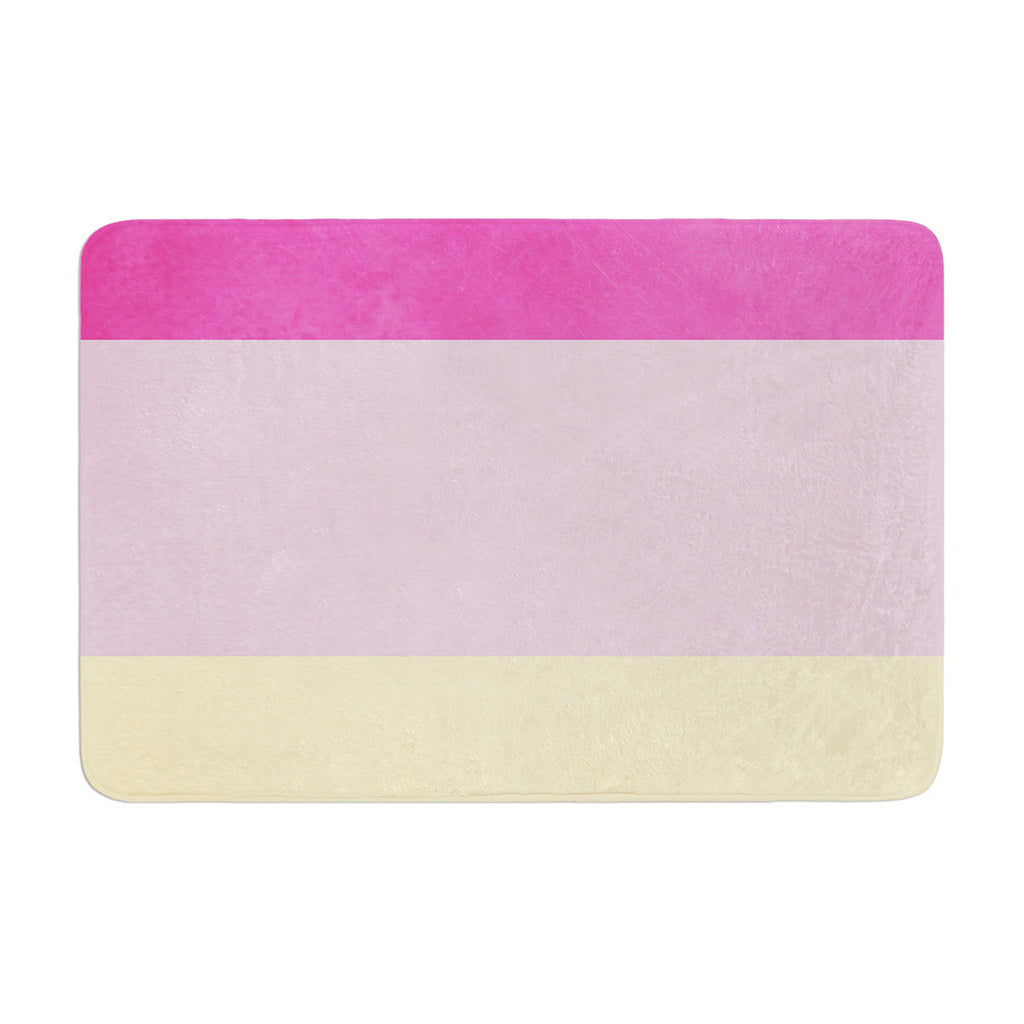 "Catherine McDonald ""Color Block Purple"" Memory Foam Bath Mat - KESS InHouse"