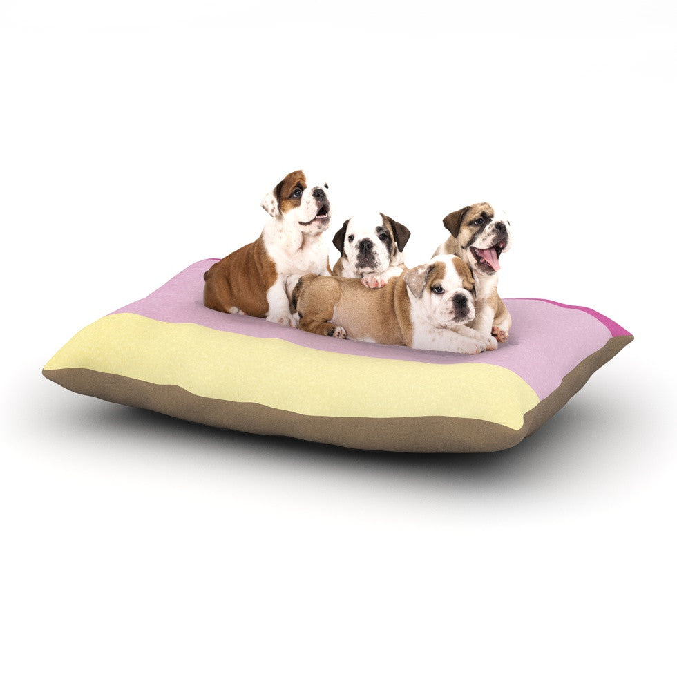 "Catherine McDonald ""Color Block Purple"" Dog Bed - KESS InHouse  - 1"