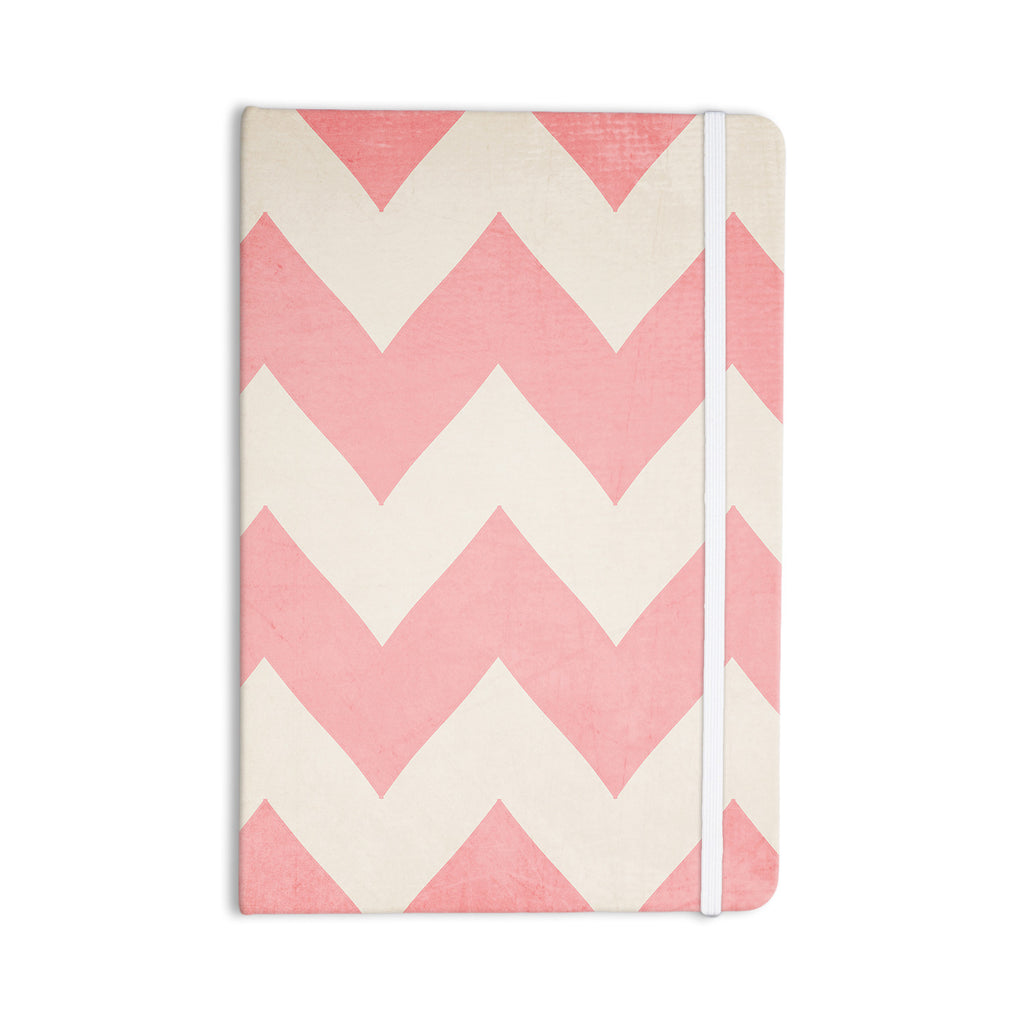 "Catherine McDonald ""Sweet Kisses"" Pink Chevron Everything Notebook - KESS InHouse  - 1"